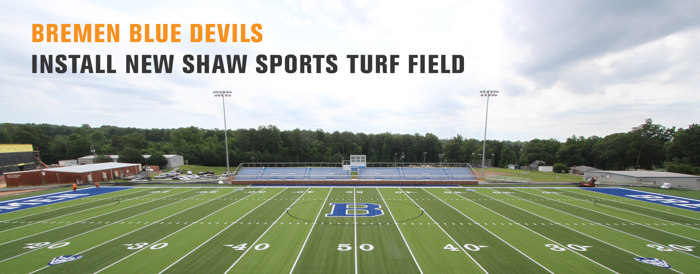 BREMEN BLUE DEVILS INSTALL NEW SHAW SPORTS TURF FIELD Image