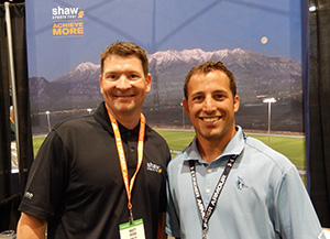 Matt Ross, Shaw Sports Turf Regional Vice President, with Jon Gregory, Assistant Athletic Director for Facilities with Johns Hopkins University