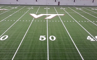 VIRGINIA TECH PARTNERS WITH SHAW SPORTS TURF FOR NEW INDOOR PRACTICE FACILITY