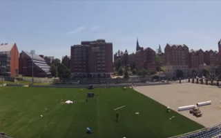 Georgetown Field Installation Shaw Sports Turf Time Lapse