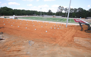 CHECK OUT PROGRESS FOR OUR NEW INSTALLATION AT SATSUMA HIGH SCHOOL