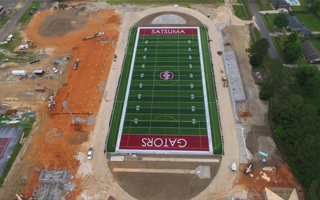 SATSUMA AD STEVE COCHRAN ON THE IMPACT OF THE SCHOOL'S NEW SHAW SPORTS TURF FIELD