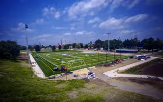 TIME LAPSE OF SHAW SPORTS TURF'S BANNER FIELD PROJECT AT LATROBE PARK