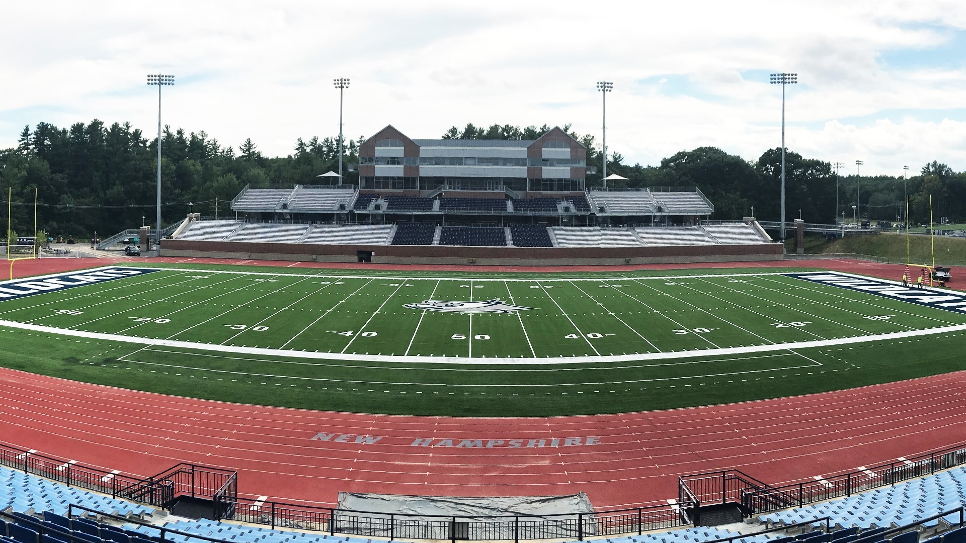 UNIVERSITY OF NEW HAMPSHIRE PLAYING ON NEW SHAW SPORTS TURF FIELD Image