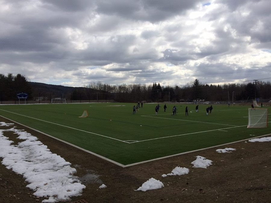 LANDMARK COLLEGE'S NEW SHAW SPORTS TURF FIELD STANDS THE TEST AGAINST WILD WEATHER