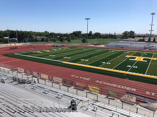 TRACY UNIFIED SCHOOL DISTRICT INSTALLS SHAW SPORTS TURF AT  WAYNE SCHNEIDER STADIUM AT TRACY HIGH SCHOOL