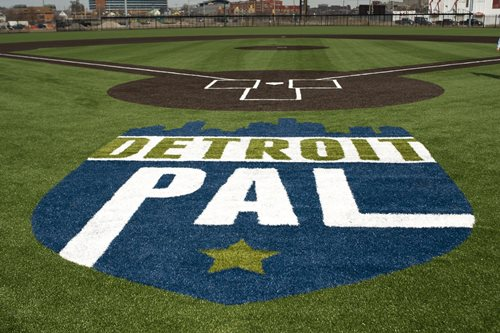 FORMER DETROIT TIGERS STADIUM NOW FEATURE SHAW SPORTS TURF FIELD  Image